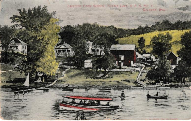 Turtle Lake Delavan Wisconsin 1908